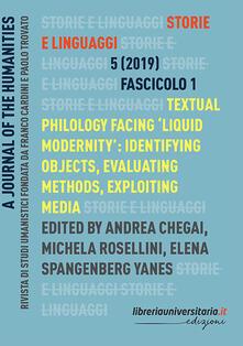 Antondemarirreguera.es Storie e linguaggi. Rivista di studi umanistici (2019). Vol. 1 Image