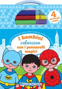 BAMBINI COLORANO CON I PENNARELLI MAGICI