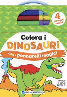 Squillogame.it Colora i dinosauri con i pennarelli magici. Con gadget Image