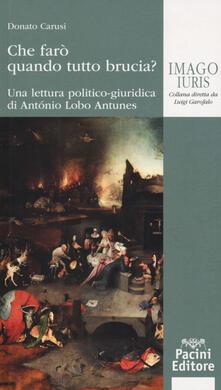 Che farò quando tutto brucia? Una lettura politico-giuridica di Antonio Lobo Antunes