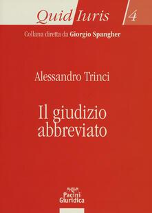 Giudizio abbreviato - Alessandro Trinci - copertina