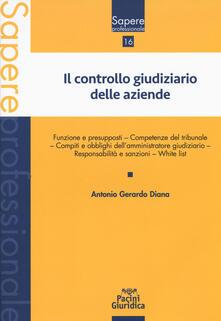 Il controllo giudiziario delle aziende - Antonio Gerardo Diana - copertina
