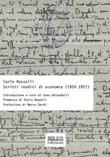 Radiospeed.it Scritti inediti di economia (1924-1927) Image