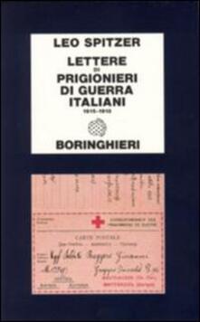 Lettere di prigionieri di guerra italiani (1915-1918) - Leo Spitzer - copertina