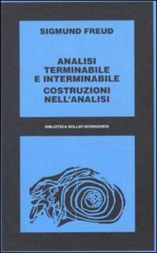 Analisi terminabile e interminabile - Sigmund Freud - copertina