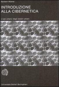Libro Introduzione alla cibernetica Norbert Wiener