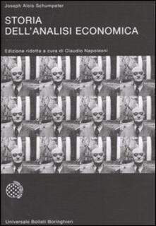 Storia dell'analisi economica - Joseph A. Schumpeter - copertina