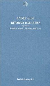 Libro Ritorno dall'URSS André Gide