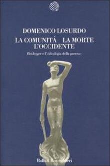 La comunità, la morte, l'Occidente - Domenico Losurdo - copertina