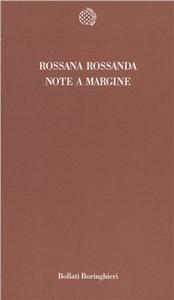 Libro Note a margine Rossana Rossanda