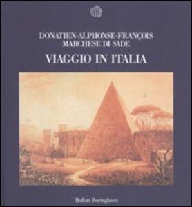 Libro Viaggio in Italia François de Sade