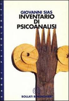 Inventario di psicoanalisi - Giovanni Sias - copertina