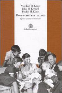 Libro Dove comincia l'amore. I primi contatti con il neonato H. Marshall Klaus , Phyllis H. Klaus , John H. Kennell