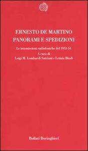 Foto Cover di Panorami e spedizioni. Le trasmissioni radiofoniche del 1953-54, Libro di Ernesto De Martino, edito da Bollati Boringhieri