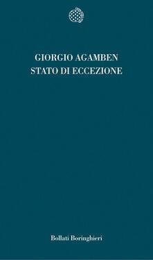 Lo stato di eccezione. Homo sacer. Vol. II\1 - Giorgio Agamben - copertina