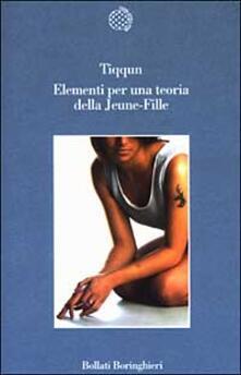 Elementi per una teoria della Jeune-Fille - copertina