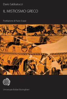 Il misticismo greco - Dario Sabbatucci - copertina