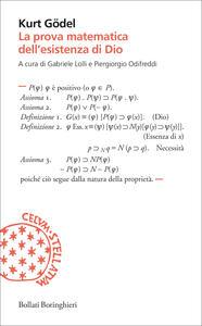 La prova matematica dell'esistenza di Dio - Kurt Gödel - copertina