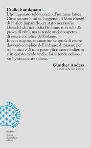 Libro L' odio è antiquato Günther Anders