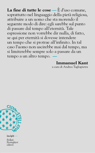 Libro La fine di tutte le cose Immanuel Kant