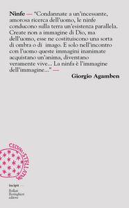 Libro Ninfe Giorgio Agamben
