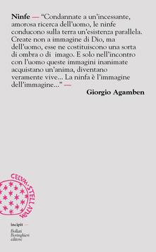 Ninfe - Giorgio Agamben - copertina