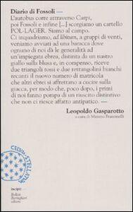 Foto Cover di Diario di Fossoli, Libro di Leopoldo Gasparotto, edito da Bollati Boringhieri