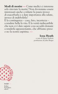 Libro Modi di morire Iona Heath