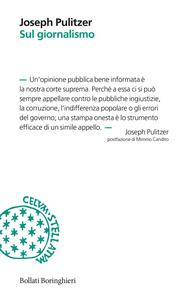 Libro Sul giornalismo Joseph Pulitzer