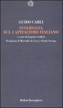 Intervista sul capitalismo italiano - Guido Carli - copertina