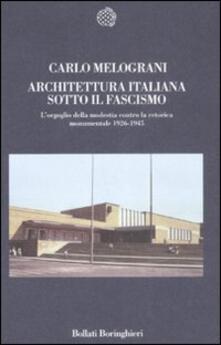 Antondemarirreguera.es Architettura italiana sotto il fascismo. L'orgoglio della modestia contro la retorica monumentale 1926-1945 Image