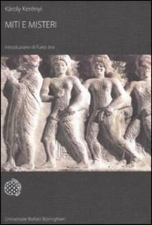 Miti e misteri - Károly Kerényi - copertina