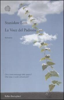 La voce del padrone - Stanislaw Lem - copertina