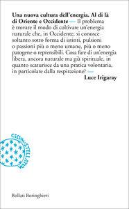 Foto Cover di Una nuova cultura dell'energia, Libro di Luce Irigaray, edito da Bollati Boringhieri