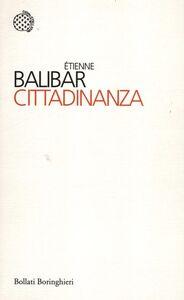 Libro Cittadinanza Etienne Balibar