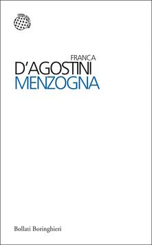 Menzogna - Franca D'Agostini - copertina