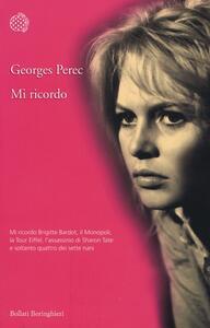 Mi ricordo - Georges Perec - copertina