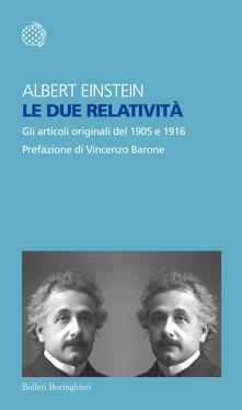 Ipabsantonioabatetrino.it Le due relatività. Gli articoli originali del 1905 e 1916 Image