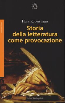 Storia della letteratura come provocazione - Hans R. Jauss - copertina
