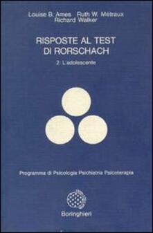 Vitalitart.it Risposte al test di Rorschach. Vol. 2: L'Adolescente. Image