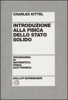 Introduzione alla fisica dello stato solido - Charles Kittel - copertina