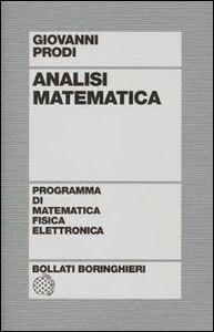 Libro Analisi matematica Giovanni Prodi