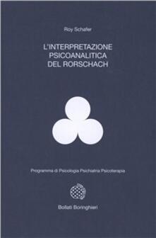 L' interpretazione psicoanalitica del Rorschach - Roy Schäfer - copertina