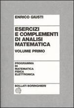 Esercizi e complementi di analisi matematica. Vol. 1
