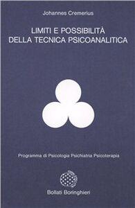 Libro Limiti e possibilità della tecnica psicoanalitica Johannes Cremerius