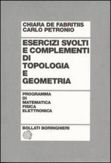 Grandtoureventi.it Esercizi svolti e complementi di topologia e geometria Image