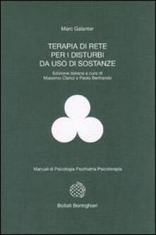 Terapia di rete per i disturbi da uso di sostanze - Marc Galanter - copertina