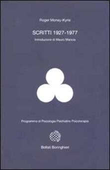 Scritti (1927-1977) - Roger Money Kyrle - copertina