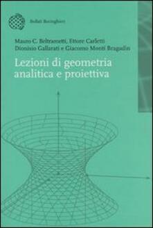 Lezioni di geometria analitica e proiettiva - copertina