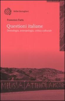 Questioni italiane. Demonologia, antropologia, critica culturale.pdf